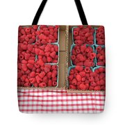Red Raspberries Are Here Tote Bag