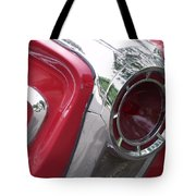 Red Retro Chrome Tote Bag
