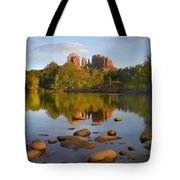 Red Rock Crossing Arizona Tote Bag by Tim Fitzharris