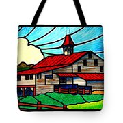 Red Roof Barn On Osceola Springs Road Tote Bag