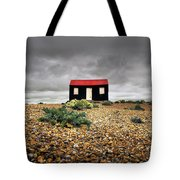 Red Roofed Hut Tote Bag