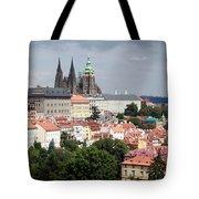 Red Rooftops Of Prague Tote Bag by Linda Woods