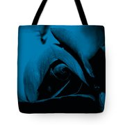 Red Rose Close Up 2011 In Blue Tote Bag