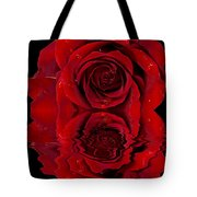 Red Rose Dew Tote Bag