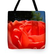 Red Rose Flower Bright Colorful Vivid Red Floral Rose Tote Bag