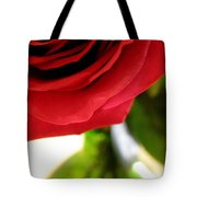 Red Rose In Glass Vase Tote Bag
