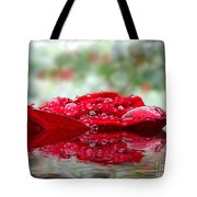 Red Rose Reflections Tote Bag