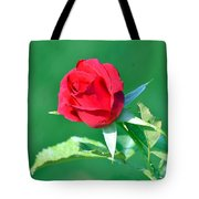 Red Rose With Star-shaped Collar Tote Bag