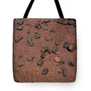 Red Sand And Rocks Tote Bag
