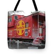 Red Sante Fe Caboose Train . 7d10325 Tote Bag