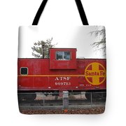 Red Sante Fe Caboose Train . 7d10328 Tote Bag