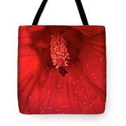 Red Saturation Point Tote Bag