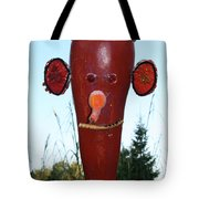 Red Scarecrow Tote Bag