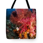 Red Sea Fan And Soft Coral In Raja Tote Bag
