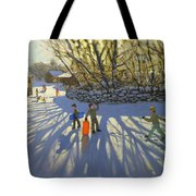Red Sledge Tote Bag