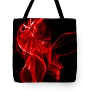 Red Smoke Tote Bag