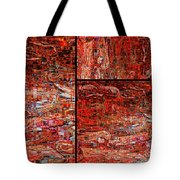 Red Splashes Swishes And Swirls - Abstract Art Tote Bag