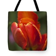 Red Spring Blooming Tulip Tote Bag