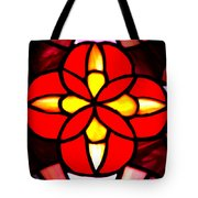 Red Stained Glass Tote Bag