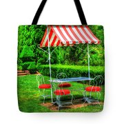 Red Stripes Tote Bag