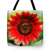 Red Sun Flower Tote Bag