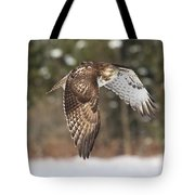 Red Tailed Take-off Tote Bag