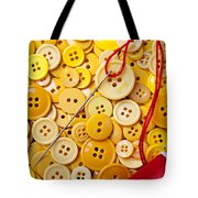 Red Thread And Yellow Buttons Tote Bag