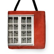 Red Timber House And Window Frame In Tote Bag