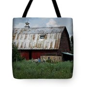 Red Weathered Barn Tote Bag