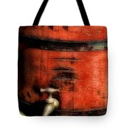 Red Weathered Wooden Bucket Tote Bag