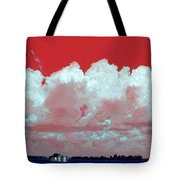 Red White And Blue Farm Tote Bag