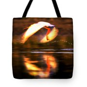 Red White Reflection Tote Bag