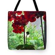 Red Window Geraniums Tote Bag