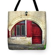 Red Windows And Door Provence France Tote Bag