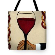 Red Wine Glass Tote Bag