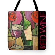 Red Wine Poster Tote Bag