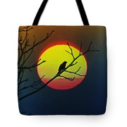 Red Winged Blackbird In The Sun Tote Bag