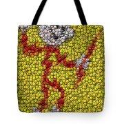 Reddy Kilowatt Bottle Cap Mosaic Tote Bag