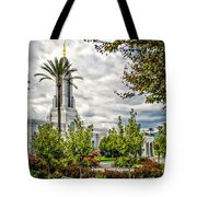 Redlands Temple Palm Tote Bag