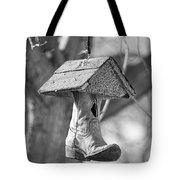 Redneck Cowboy Boot Birdhouse Bw Tote Bag