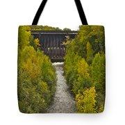 Redridge Steel Dam 7844 Tote Bag by Michael Peychich