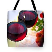 Reds At Afternoon Tote Bag by Elaine Plesser