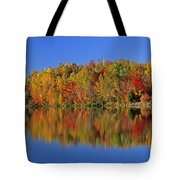 Reflected Autumn Trees In Simon Lake Tote Bag