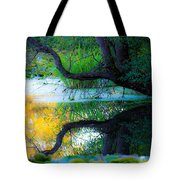 Reflected Tree In Pastel Landscape Tote Bag