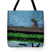Reflecting On Rice Tote Bag