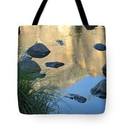 Reflecting Peaks In The Merced River Tote Bag