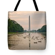 Reflecting Pool And Ducks Tote Bag
