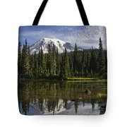 Reflection Lake And Mount Rainier Tote Bag