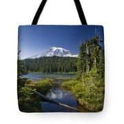Reflection Lake With Mount Rainier Tote Bag
