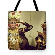 Reflection Of A Kecak Dancer Tote Bag